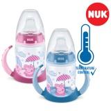 "NUK First Choice+ шише ПП150мл, рачки, силикон клунче ""Peppa Pig ""(6+мес.)  - Temp.Control"
