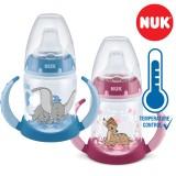 "NUK PP First Choice+ шише 150мл со рачки и силикон клунче ""Disney Dumbo/Bambi"" - Tempеrature Control (6+мес.)"