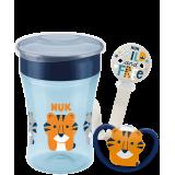 """NUK Сет """"Space"""" Чашка, Ланче и цуцла Лажалка (6+ mes.)"""
