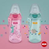 """NUK Шишенце со некапечко силикон клунче """"Active Cup """" (12+m.)"""