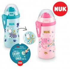 "NUK Шишенце со некапечка цевка - ""Flexi Cup Color Change"" (12+ м.)"