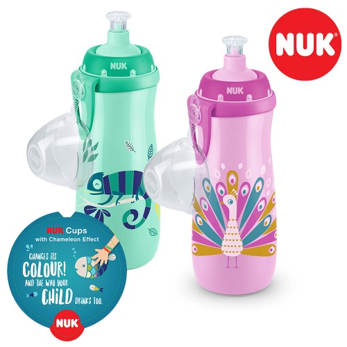 """NUK шишенце некапечко со камелеон ефект """"Sports Cup Color Change"""" (36+m.)"""