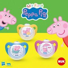 "NUK Цуцла Лажалка анатомска силикон ""Peppa Pig"" (6+м.)"