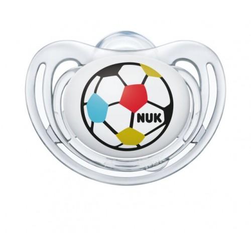 "NUK Анатомска Цуцла Лажалка Freestyle ""Soccer Fan"" (6-12;18-36mes.) 2/пакување"