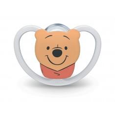 """NUK Цуцла Лажалка Анатомска силикон """"SPACE Winnie The Pooh"""" (0+м.)"""