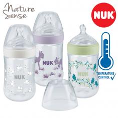 NUK Nature Sense шишенцe ПП 260мл anatomic anti-colic цуцла (0-36мес) - Temperature Control