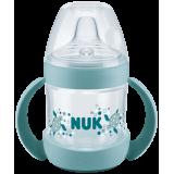 NUK Nature Sense ПП шише со рачки и некапечко клунче 150мл (6+мес.)
