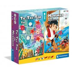 """Clementoni Друштвени Игри """"Тic Tac Toe и Бесилка""""(6-99год.)"""