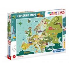 """Clementoni Explore Maps """"Познати Европски Личности"""""""" 250пар.(7+год.)"""