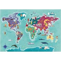 Clementoni Explore Maps Customs -Обичаи во светот 250пар.(7+год.)