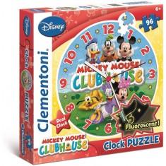 """Clementoni Пазли Вистински Часовник 96пар. """"Mickey Mouse Club House""""(3-5год.)"""