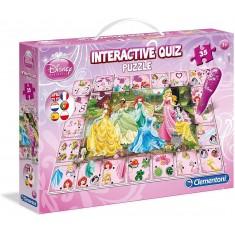 Clementoni Disney Интерактивни Квиз Пазли Disney Princesses 35пар.(3+год.)
