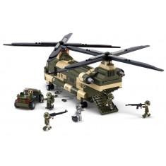 "Sluban Army - Транспортен Хеликоптер ""Chinook"" 520 коцки (6+год.)"